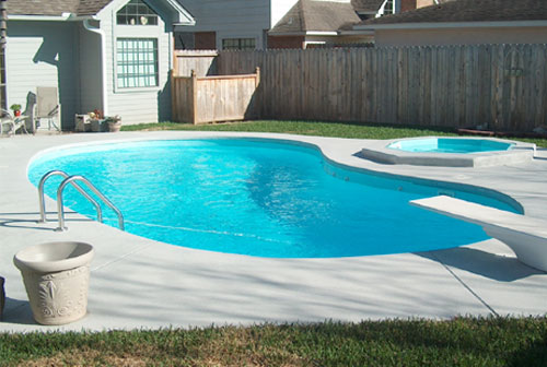 The Brazos Fiberglass Swimming Pool