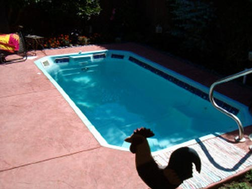 The Lavaca Fiberglass Swimming Pool