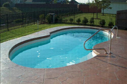 The Lazy S Fiberglass Swimming Pool